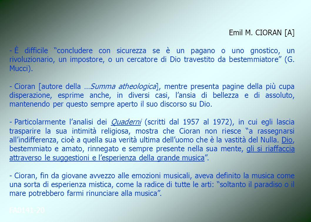 Emil M. CIORAN [A]